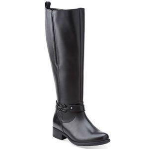Black Clark's boots.